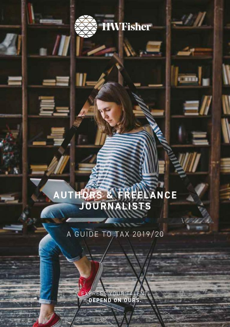 Authors and Freelance Journalists Tax Guide 2019 - HW Fisher