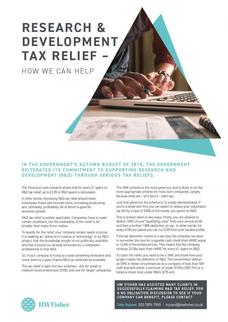 Research & Development: Tax Relief
