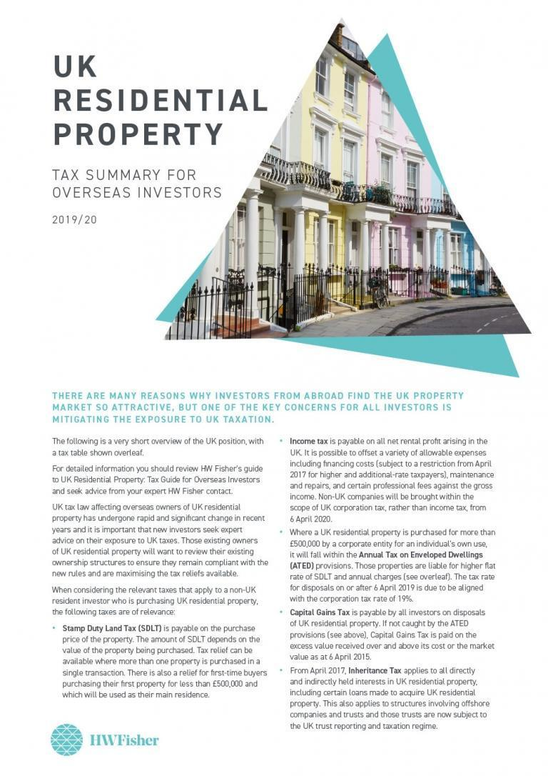 UK Residential Property Tax Summary for Overseas Investors 2019/20